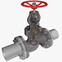 3d model of globe valve 1