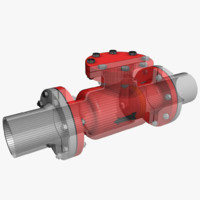 non-return valve 1 3d model