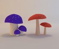 cartoon mushroom 3d max