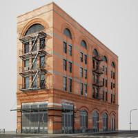 3d buildings corner