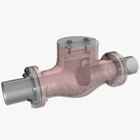 3d non-return valve