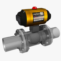 3d tight shut-off valve model