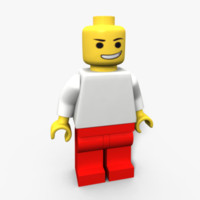 3d lego modeled model