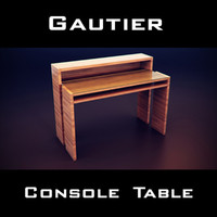 3d model gautier neos extendable console table