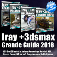 Iray + 3ds max 2016 Grande Guida Cd Front 2 Computer
