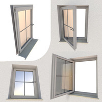 rigged window component 3d obj