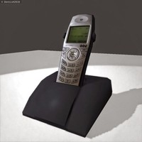 wireless office phone 3d dxf