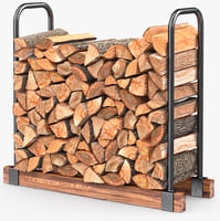 firewood stack 3d max