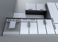 kitchen module 3d model