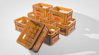 3d model beer crate