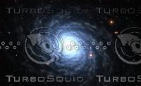 Blue Spiral Galaxy with star field