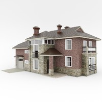 3d cottage exterior building