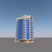 building modern glass 3d model