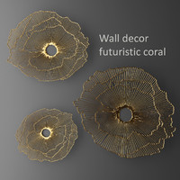 3d x wall decor futuristic coral