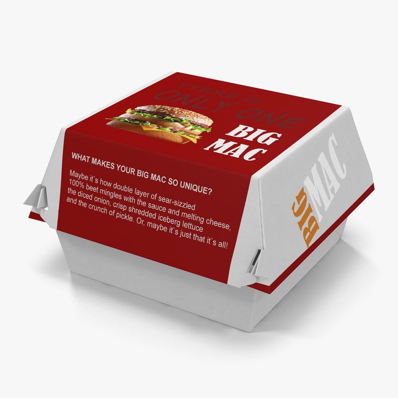 Burger Box Big Mac 3d model 01.jpg