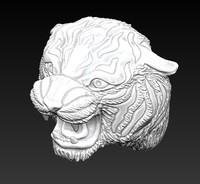 3d model cat head