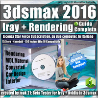 Iray + 3ds max 2016 Rendering Guida Completa Subscription 2 Computer