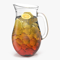 iced tea pitcher 3d obj