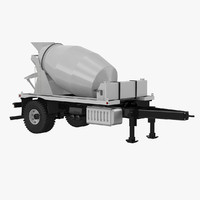 concrete mixer 3D models