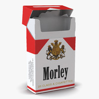 opened cigarettes pack morley 3ds