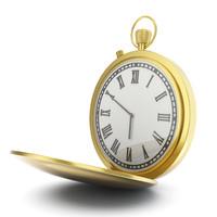 golden pocket watch 3d model