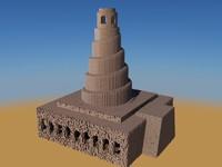 3d model ancient mosque samara al