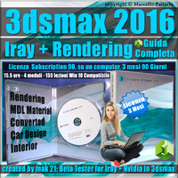 Iray + 3ds max 2016 Rendering Guida Completa 3 mesi Subscription 1 Computer