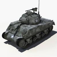 sherman tank - 3d max