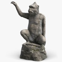monkey sculpture 2 3d model