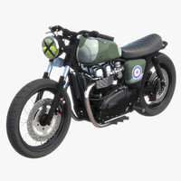 3d model triumph bonneville raf edition