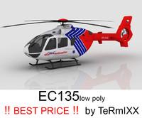 3d obj heli ec-135 alfa helicopter