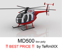 helicopter md-500 3d model