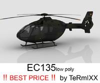 3d model heli ec-135 bundeswehr