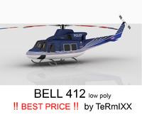 3d model bell 412 czech police