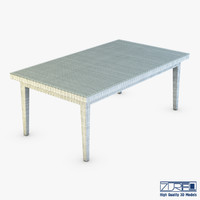 3d rexus dining table white model
