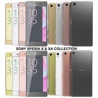 realistic sony xperia x 3d model