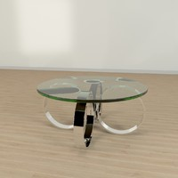 3d model chrome table