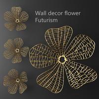 wall decor flower futurism 3d model