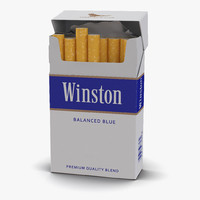 opened cigarettes pack winston c4d
