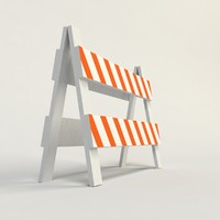 traffic barriers 3d model