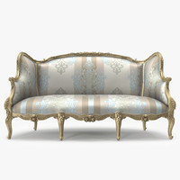 louis xv sofa 3d obj