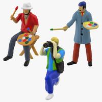 3d model miniature artists