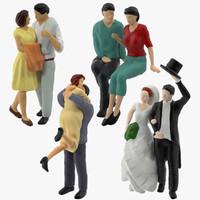 3d model miniatures couples love