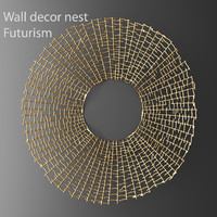 max wall decor futuristic coral