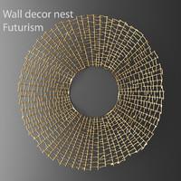 max wall decor futuristic coral