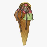 cream cone 3d max