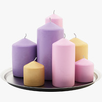 decorative candles c4d