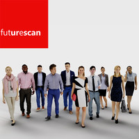 architectural scan people 3d model