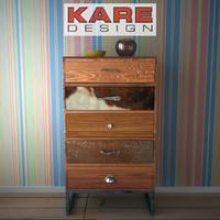 kare cabinet-rodeo 3d model
