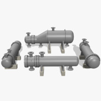 heat exchanger pack 3d model
